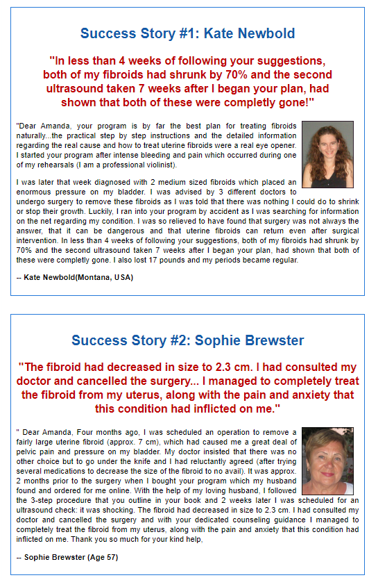 fibroid miracle customer review