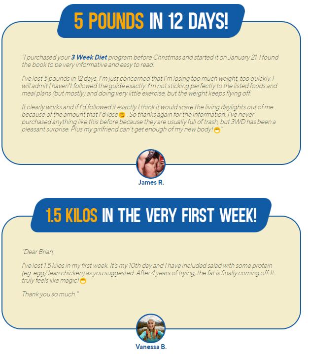 The 3 Week Diet reviews