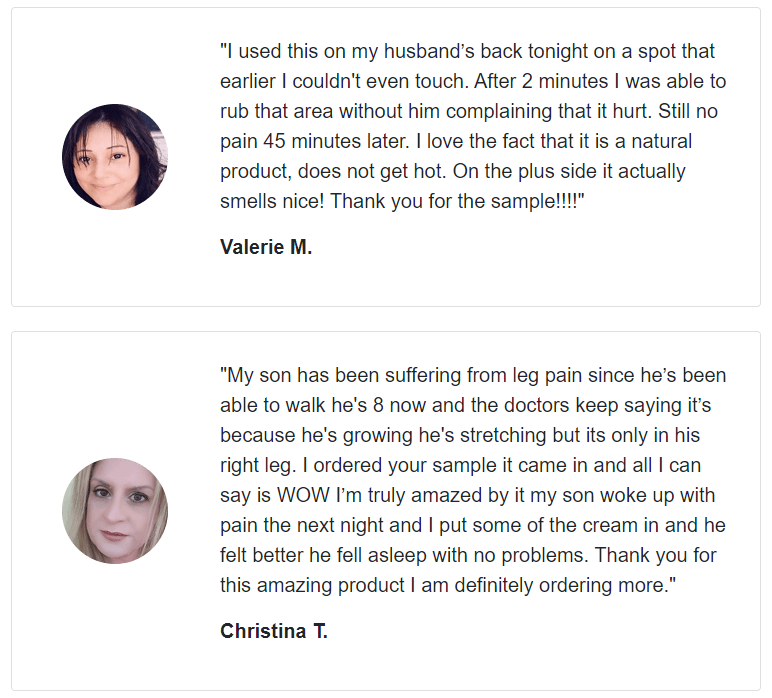 Mind Body Matrix Pain Cream customer reviews