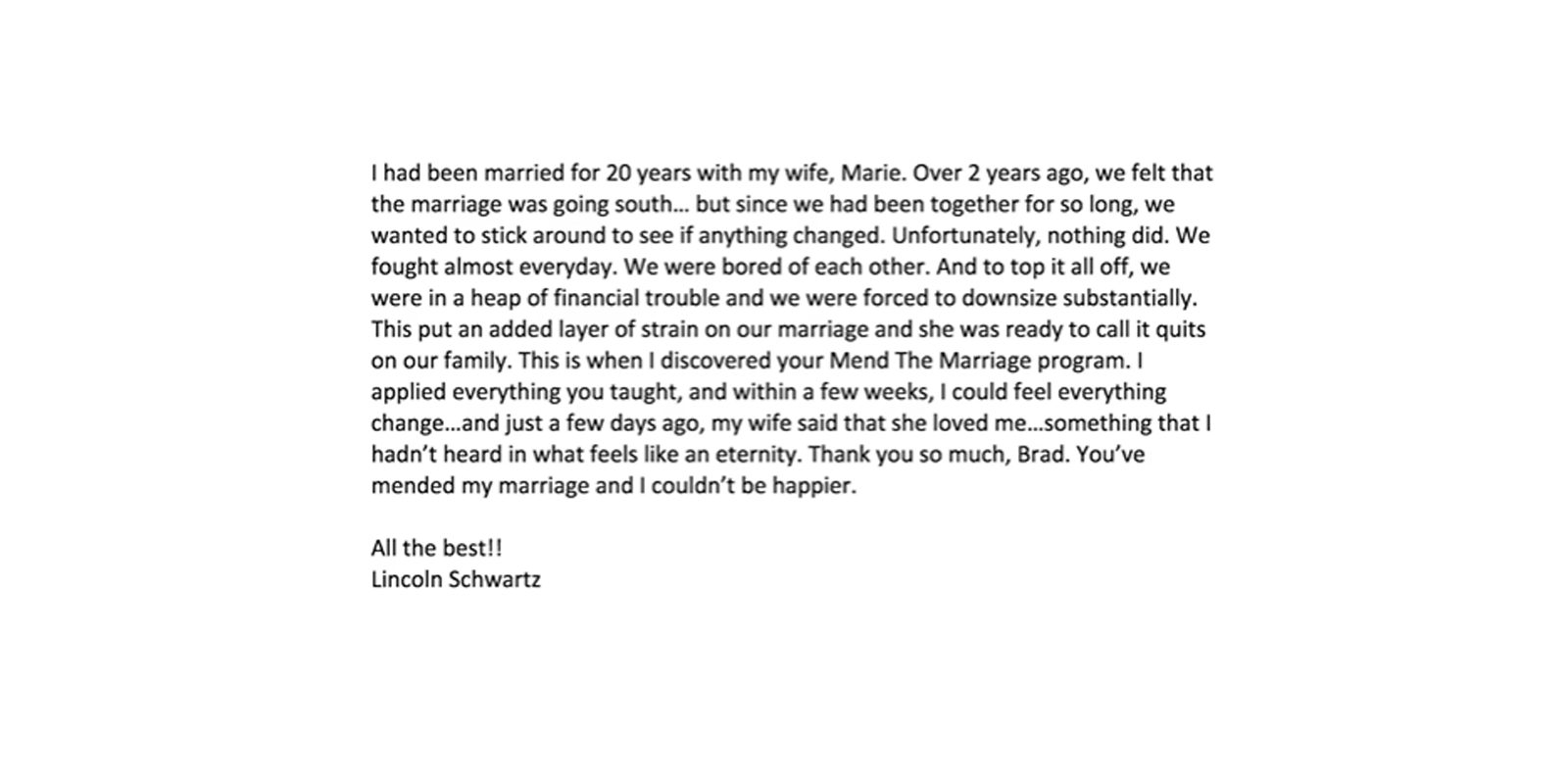 complete Mend The Marriage reviews