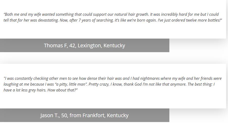 Hairfortin customer reviews