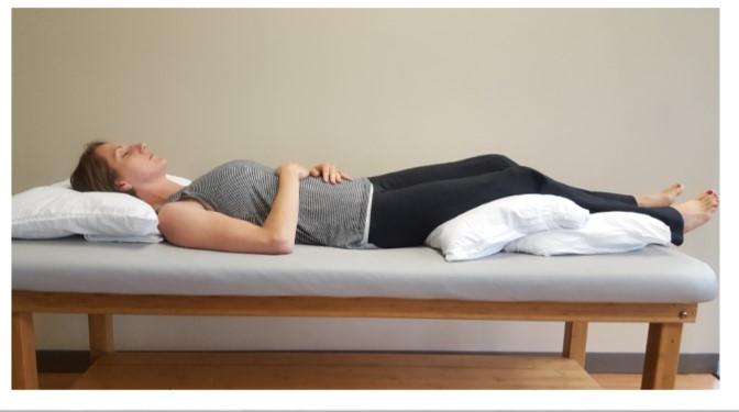Proper position for resting