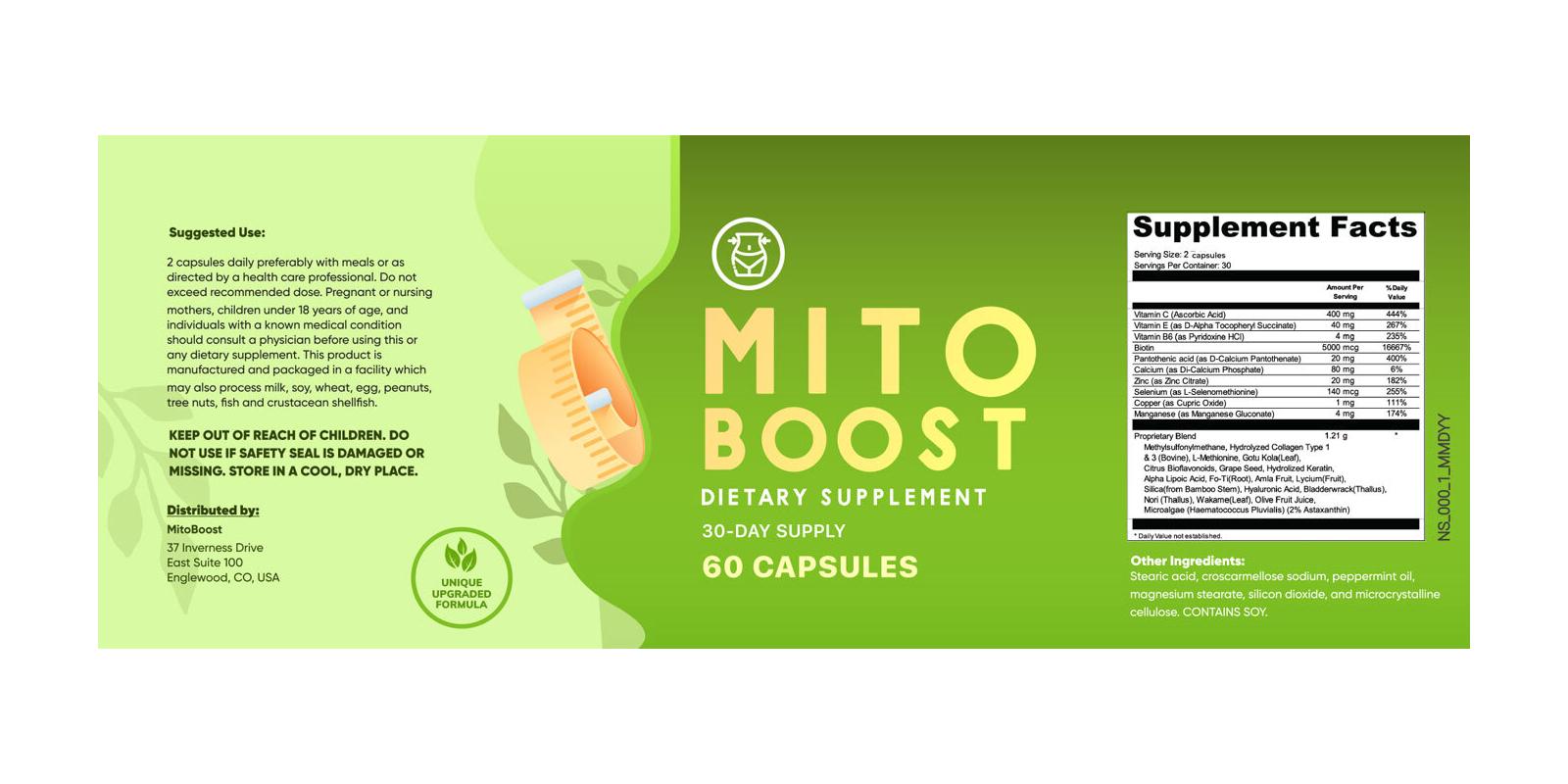 MitoBoost Dosage