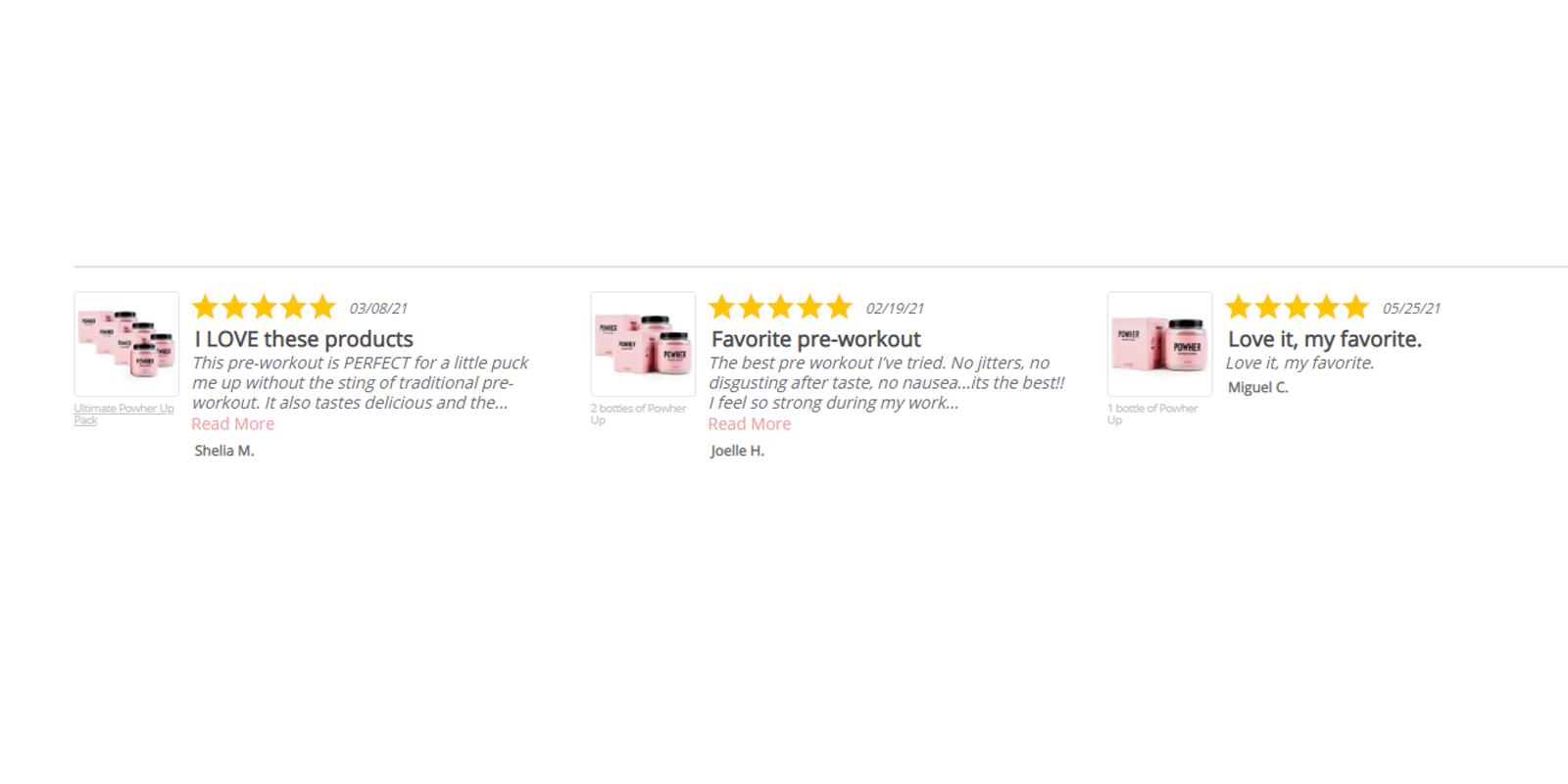 Powher Pre Workout customer reviews